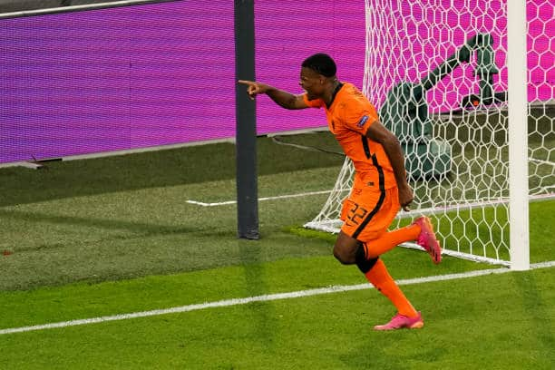Dutch defender Denzel Dumfries (Photo by Andre Weening/BSR Agency/Getty Images)