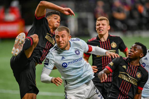 Atlanta United double act Miles Robinson and George Bello will be representing MLS at the All-Star game (Photo by Rich von Biberstein/Icon Sportswire via Getty Images)
