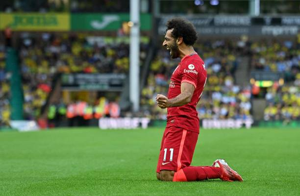 Mo Salah makes the TOTW (Photo by JUSTIN TALLIS/AFP via Getty Images)