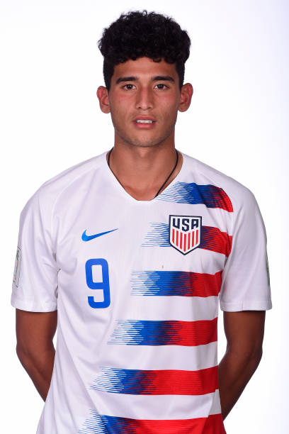 VITORIA, BRAZIL - OCTOBER 24: Ricardo Pepi poses during the U17 USA team presentation on October 24, 2019 in Vitoria, Brazil. Pepi has chosen the US over Mexico and will represent the former at World Cup qualifying (Photo by Pedro Vilela - FIFA/FIFA via Getty Images)