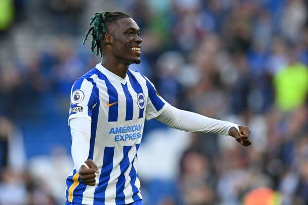 Yves Bissouma was Man of the Match for Brighton and he is at the heart of this TOTW midfield (Photo by GLYN KIRK/AFP via Getty Images)