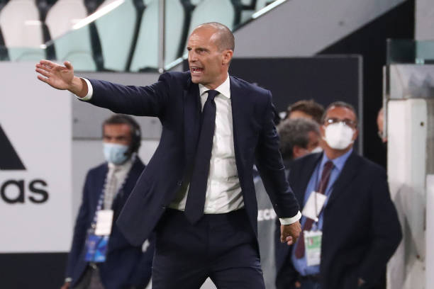 Massimiliano Allegri head coach of Juventus gestures during the Serie A match between Juventus and Empoli FC at Allianz Stadium on August 28, 2021 in Turin, Italy. (Photo by Giuseppe Cottini/NurPhoto via Getty Images)